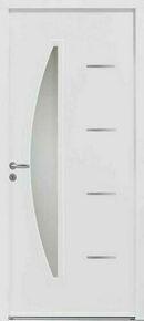 Porte d'entrée CEDOUSA en acier finition blanche droite poussant haut.2,15 m larg.90 cm dormant 120mm - Gedimat.fr