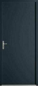 Porte secondaire Acier  laqué PSP gauche poussant haut.2,15m larg.90cm gris - Gedimat.fr