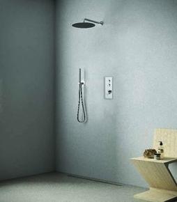 Pack à encastrer douche 2 sorties THERMO UP chromé - Gedimat.fr