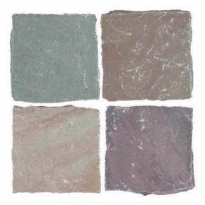 Pavé carré en grès indien Cobles 140x140mm multicolore - Gedimat.fr