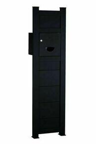 Totem Boîte aux lettres Aluminium gris 7016 haut.1m60 larg.43cm - Gedimat.fr