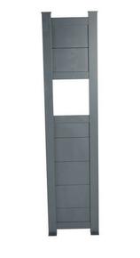 Totem Boîte aux lettres Aluminium gris 7016 haut.1m80 larg.43cm - Gedimat.fr