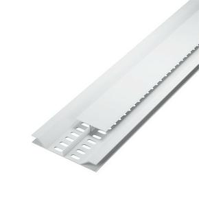 Grille de ventilation dissimulée ép.12 mm larg.92 mm long.4 m Blanc - Gedimat.fr