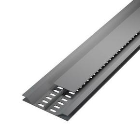 Grille de ventilation dissimulée ép.12 mm larg.92 mm long.4 m Gris clair - Gedimat.fr