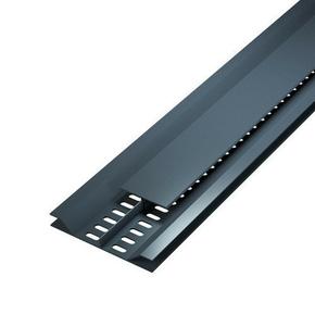 Grille de ventilation dissimulée ép.12 mm larg.92 mm long.4 m Gris anthracite - Gedimat.fr