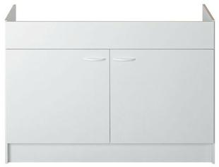 Meuble sous évier à poser SINOP 2 portes 100 x 60 cm - Gedimat.fr