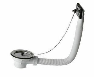 Bonde à bouchon avec enjoliveur, pour évier grès avec trop plein percé en diam.60 mm - Gedimat.fr