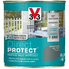 Peinture DIRECT PROTECT satin blanc  - pot 0,125l - Gedimat.fr