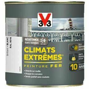 Peinture fer CLIMATS EXTREMES brillant noir charbon  - pot 1,5l - Gedimat.fr