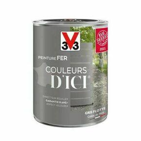 Peinture fer COULEURS D'ICI marron brulé  - pot 0,5l - Gedimat.fr