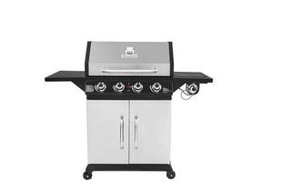Barbecue gaz 4 brûleurs + 1 brûleur latéral PERTH Inox - Gedimat.fr