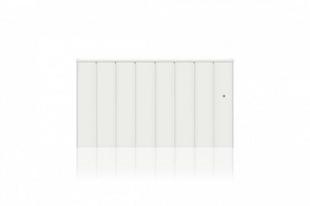 Radiateur Connecté à inertie réfractite MANON Modèle Bas coloris Blanc 1500W CHAUFELEC - Gedimat.fr