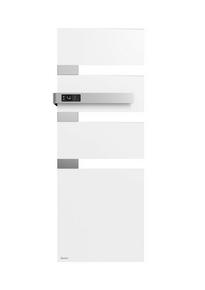 Radiateur sèche-serviettes ALUTU music mat gauche coloris Blanc 750W SAUTER - Gedimat.fr