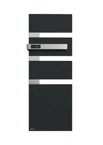 Radiateur sèche-serviettes ALUTU mat gauche coloris Anthracite 1750W SAUTER - Gedimat.fr