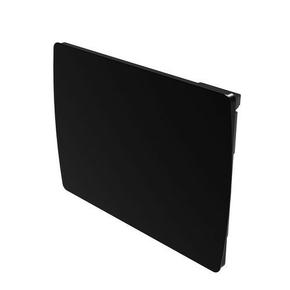 """Radiateur noir façade verre céramique inertie sèche """"JARPA"""" écran tactile 1500W - Gedimat.fr"""
