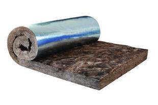 Laine de verre RT PLUS 032 revêtue pare-vapeur - 2x1,2m Ep.200mm - R=6,3m².K/W. - Gedimat.fr