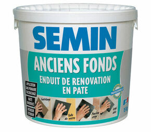 Enduit de rénovation SEMIN ANCIENS FONDS - seau de 15kg - Gedimat.fr