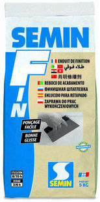 Enduit de finition SEMIN F - sac de 5kg - Gedimat.fr