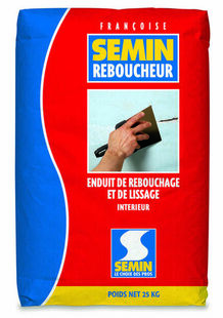 Enduit de rebouchage SEMIN REBOUCHEUR - sac de 25kg - Gedimat.fr