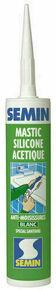 Mastic silicone acétique blanc  - tube de 310ml - Gedimat.fr