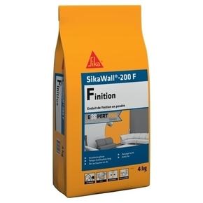 Enduit de lissage et de finition à base de plâtre SikaWall 200F - sac de 4kgs - Gedimat.fr