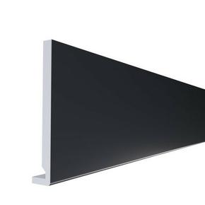 Planche de rive PVC cellulaire à clouer ép.16 mm larg.200 mm long.4 m Gris Anthracite - Gedimat.fr