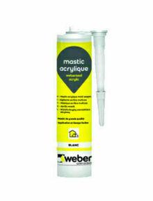 Mastic WEBERSEAL acrylic blanc  - cartouche 300ml - Gedimat.fr