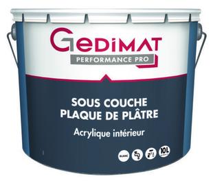 Sous-couche plaque plâtre déco acrylique 10L GEDIMAT PERFORMANCE PRO - Gedimat.fr