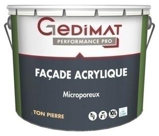Peinture façade acrylique ton pierre 10L GEDIMAT PERFORMANCE PRO - Gedimat.fr