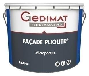 Peinture façade pliolite blanc 10 L GEDIMAT PERFORMANCE PRO - Gedimat.fr