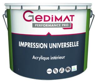 Impression universelle 10 L GEDIMAT PERFORMANCE PRO - Gedimat.fr