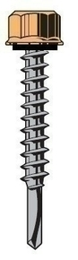 Vis TETALU P1 6,3x38mm ZN + rondelle, Couturage et Bardage double peau, RAL 9002 Gris Pierre, 100p - Gedimat.fr
