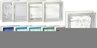 Brique de verre 1910 ép.10cm dim.19x19cm nuagée - Gedimat.fr