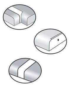 Profil angle aluminium pour plan stratifié de 28mm chant avant double rayons de 6-8mm - Gedimat.fr