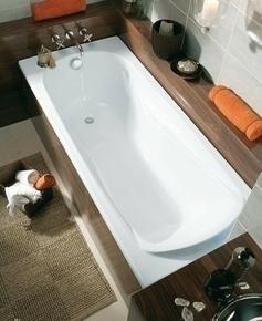 Baignoire droite FORIA toplax larg.70cm long.1,70m 105L blanc - Gedimat.fr