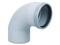 Coude d'évacuation en PVC à 87°30 mâle-femelle diam.160mm - Gedimat.fr