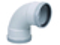Coude d'évacuation en PVC à 87°30 femelle-femelle diam.160mm - Gedimat.fr