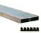 Règle de maçon 1 voile section aluminium ép.18mm larg.100mm long.4m - Gedimat.fr