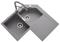 Evier d'angle à encastrer 2 bacs + 1 égouttoir CASSIOPEE en cristalite larg.72cm long.84cm nera - Gedimat.fr