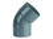 Coude d'évacuation en PVC à 45° mâle-femelle diam.100mm - Gedimat.fr