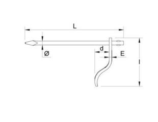 Chevillette octogonale - 250x120mm - Gedimat.fr