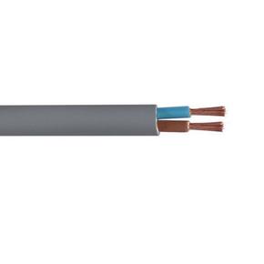 Câble électrique souple H05VVF section 2x1,5mm² coloris gris en bobine de 10m - Gedimat.fr