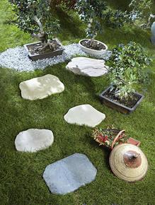 Pas japonais en pierre reconstituée BRADSTONE ép.4cm dim.56x42cm coloris Gironde - Gedimat.fr