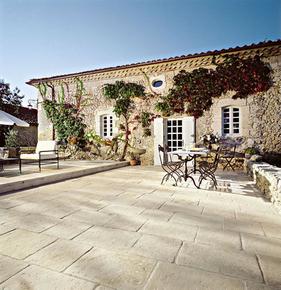Dalle pour terrasse ou piscine en pierre reconstituée ABBAYE multiformats ep.35mm coloris - Gedimat.fr