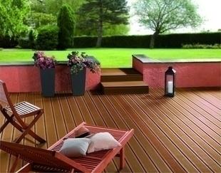 Lame de terrasse Composite FOREXIA ELEGANCE rainurée ép.23mm larg.138mm long.4m. Coloris brun Exotique - Gedimat.fr