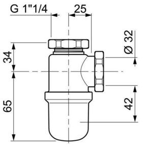 Siphon de lavabo en laiton nickelé mat non réglable - Gedimat.fr