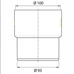 Adaptateurs sortie de cuvette WC en PVC femelle 100/ malle 93 - Gedimat.fr
