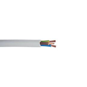 Câble électrique souple H05VVF section 3G1,5mm² coloris gris en bobine de 5m - Gedimat.fr