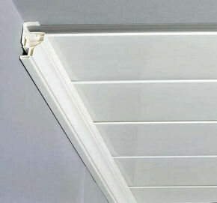Corniche pour lambris en PVC ép.8 ou 10mm long.2,60m blanc - Gedimat.fr