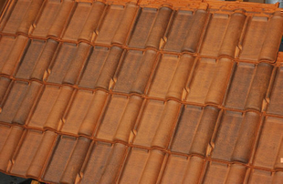 Demi-tuile RENAISSANCE coloris brun rustique - Gedimat.fr